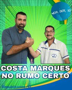 Prefeito e vice eleitos em Costa Marques são condenados, solidariamente, a pagarem multa de R$ 10.000,00, por propaganda irregular