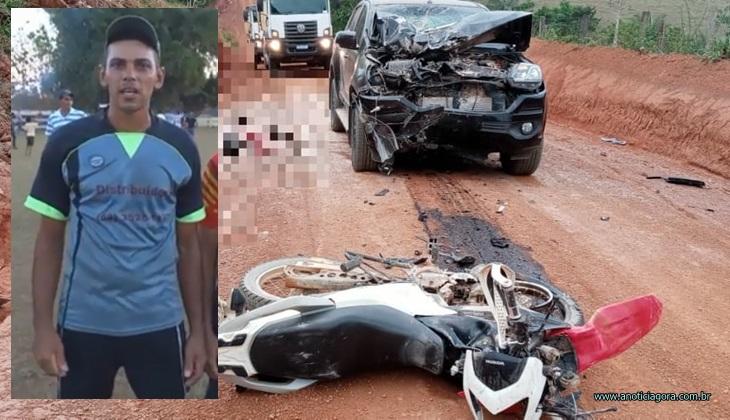Motociclista de 33 anos perde a vida em grave acidente de trânsito na zona rural