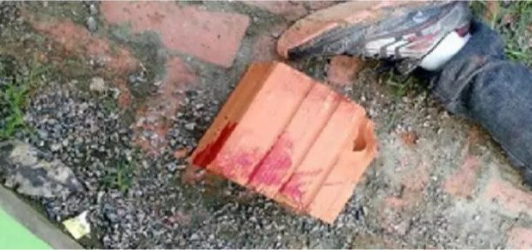 Homem de 28 anos morre após levar tijoladas e socos
