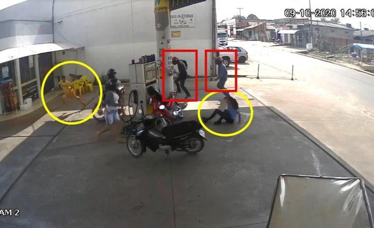 Vídeo mostra bandidos tentando matar ex-presidiário, em Ji-Paraná