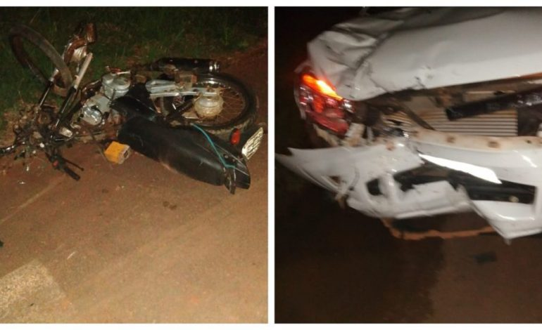 NÃO RESISTIU: Grave acidente entre motocicleta e carro deixa uma vítima fatal