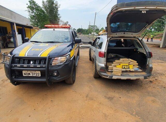 Em Ji-Paraná, PRF intercepta carregamento de 29 quilos de cocaína
