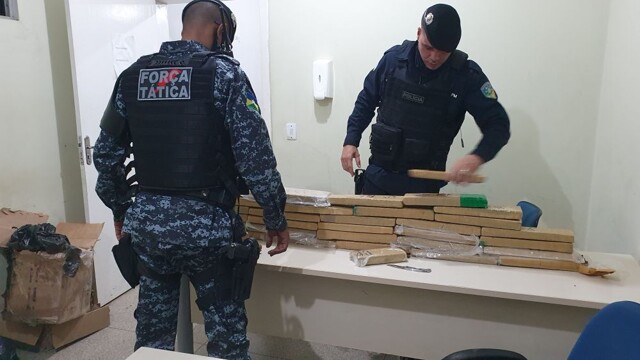PM apreende mais de 34 kg de maconha, em Ji-Paraná