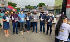 Feirantes recebem doação de kits para proteção em Ji-paraná