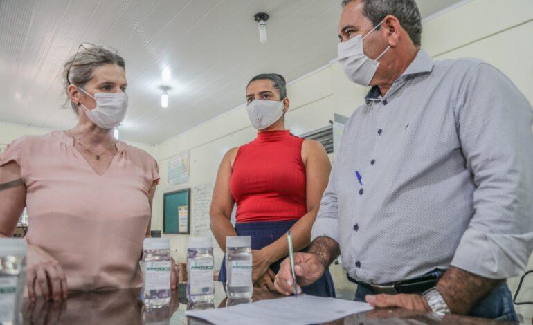 Ji-Paraná – Saúde recebe doação de álcool em gel do IFRO