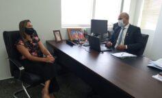 Ismael Crispin recebe vereadora Eliane Professora e confirma apoio para demandas de Novo Horizonte