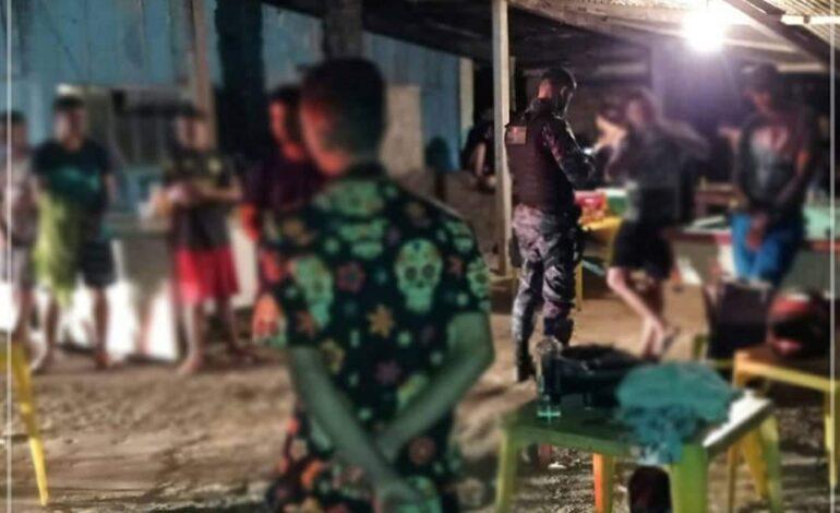 Polícia militar interdita festa clandestina na zona rural em Ji-Paraná