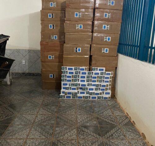 Cem mil maços de cigarros contrabandeados são apreendidos em Rondônia