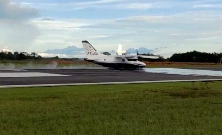 Vídeo – Avião faz pouso forçado no aeroporto José Coleto em Ji-Paraná