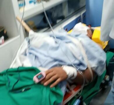Com corpo trespassado por lasca de madeira, adolescente é transferido para Porto Velho em UTI aérea