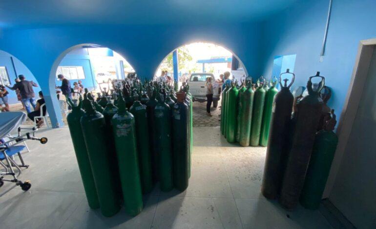 Ji-Paraná recebe a doação de mais de 30 cilindros de oxigênio