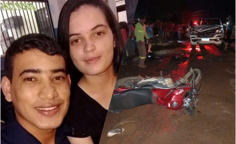 Motociclista morre após colisão frontal com caminhonete S10
