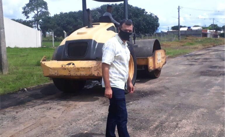 """Rua T-28 é recuperada a pedido do vereador Wanderson Araújo """"o Bença"""" (PSB)"""
