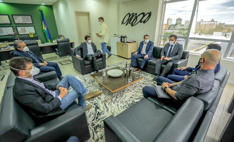 Presidente da Assembleia Legislativa, deputado estadual Alex Redano se reúne com dirigentes de poderes e instituições