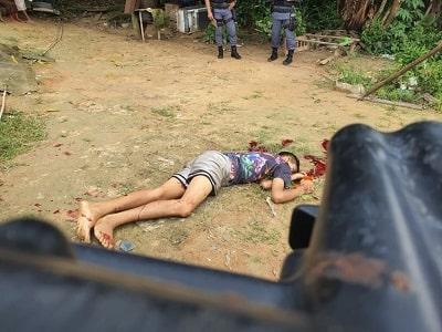 Jovem tem cabeça estourada a tiros por dever chefão do tráfico; veja