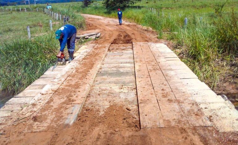 Ji-Paraná – Semosp recupera pontes da área rural
