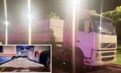 Carreta, com placas de Rondônia, é apreendida no MT com 245 kg de cloridrato de cocaína; a droga foi avaliada em R$ 8 milhões