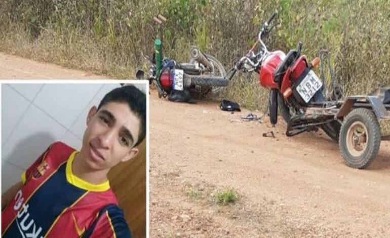 Jovem morre após colisão entre motos em estrada rural