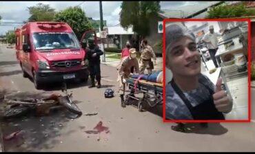 Motociclista de 20 anos, morre ao bater contra caminhonete