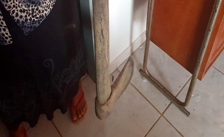 Filha tenta matar mãe a golpes de machado em Ji-Paraná