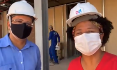 Deputada Federal Silvia Cristina visita obras do Centro de Prevenção de Câncer