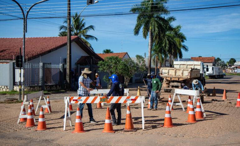 Rotatória substituirá semáforo no bairro Dom Bosco em Ji-Paraná