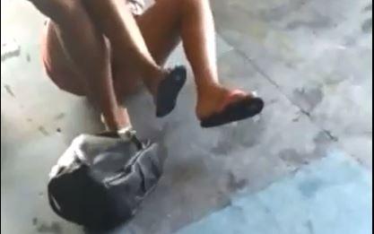 Mulher dá surra na amante do marido em recepção de motel; veja vídeo