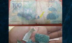 COVARDIA: Mulher usa nota falsa de R$ 100 para comprar trufas de garoto no semáforo