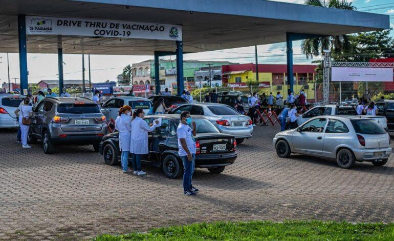 Ji-Paraná: Drive-Thru da Vacinação supera expectativa