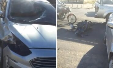 Mulher morre e filho fica ferido em acidente envolvendo moto e carro